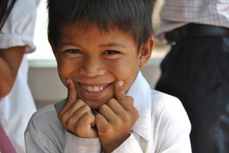 Boy smiling in uniform